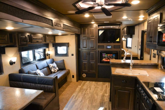 Living space in 2019.5 Bighorn BH8X17 | Lakota Trailers