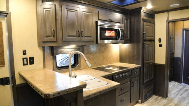 Kitchen in 2019.5 Bighorn BH8X17 | Lakota Trailers