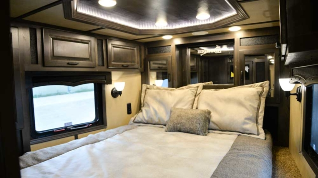 Bedroom in 2019.5 Bighorn BH8X17 | Lakota Trailers