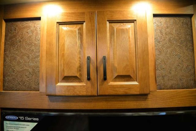 Cabinet design in 2019.5 Bighorn BH8X18CE   Lakota Trailers