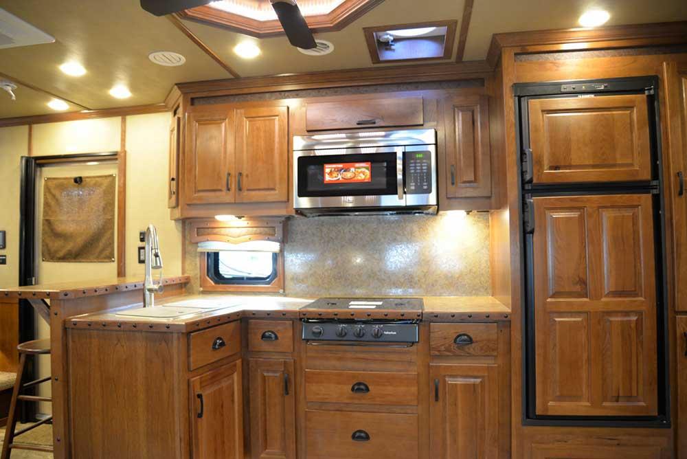 Kitchen in 2019.5 Bighorn BH8X18CE | Lakota Trailers
