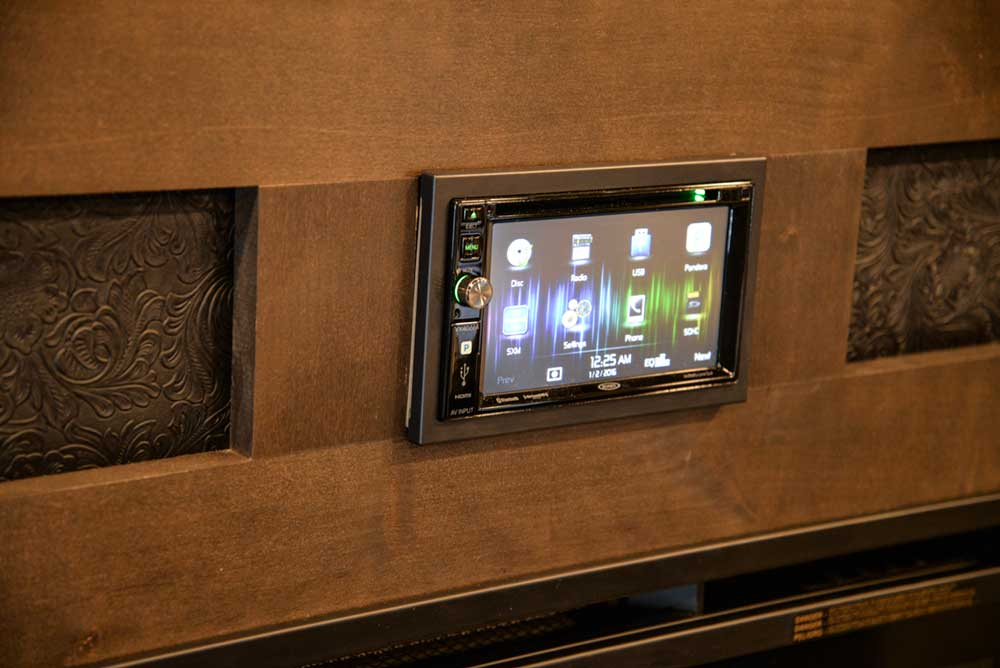 Touch screen stereo in 2019.5 Bighorn BH8X17 | Lakota Trailers