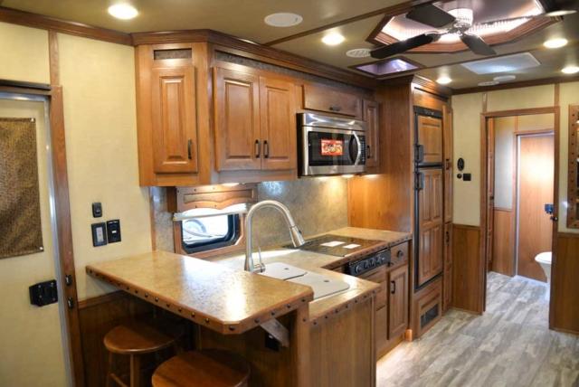 Kitchen in 2019.5 Bighorn BH8X18CE   Lakota Trailers