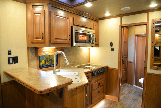 Kitchen in 2019.5 Bighorn BH8X14CE | Lakota Trailers