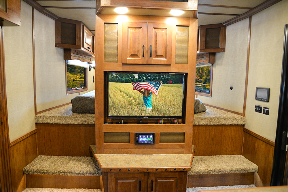 Center entertainment in 2019.5 Bighorn BH8X14CE | Lakota Trailers