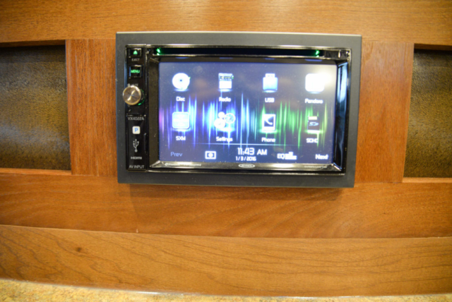 Radio touch screen in 2019.5 Bighorn BH8X14CE | Lakota Trailers