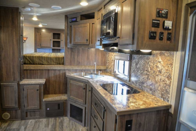 Kitchen in Charger C8X16BB |Lakota Trailers
