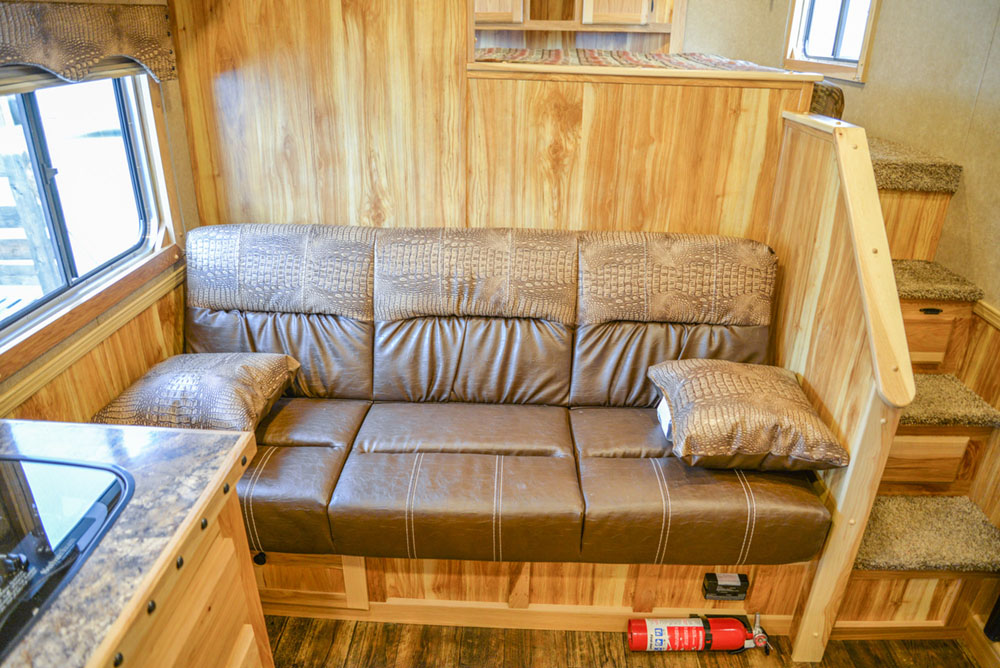 Sofa in Charger C8X11SR | Lakota Trailers