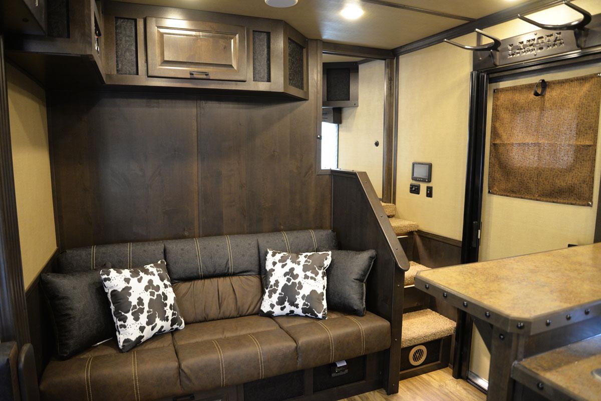 Sofa in 2019.5 Bighorn BH8X17SRB | Lakota Trailers