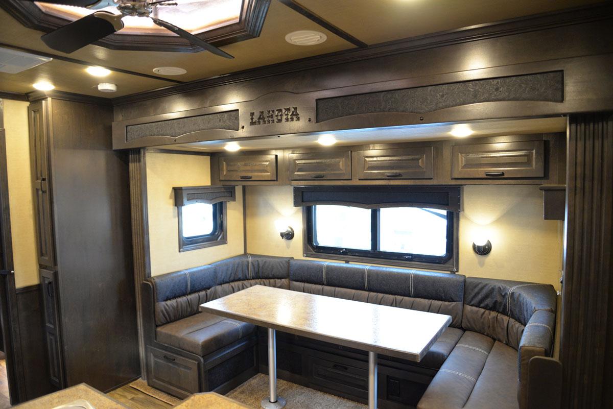 U-Shaped dinette in 2019.5 Bighorn BH8X17SRB | Lakota Trailers