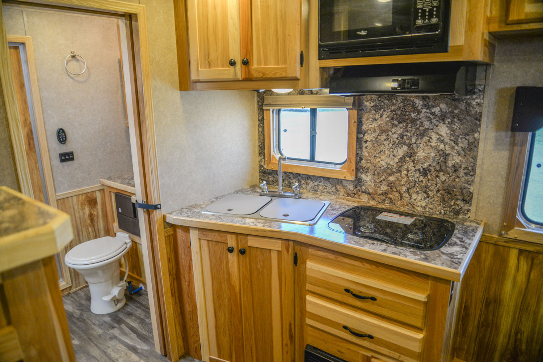 Kitchen in LE8X11SR Livestock | Lakota Trailers
