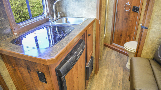Kitchen in a Charger Bumper Pull CXHSLBP11SE | Lakota Trailers