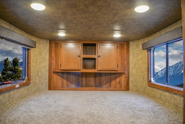Bed in Gooseneck in ACX11 Colt Edition Horse Trailer | Lakota Trailers