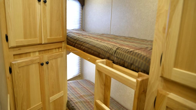 Bunk Beds in Charger C8X15BB Horse Trailer | Lakota Trailers