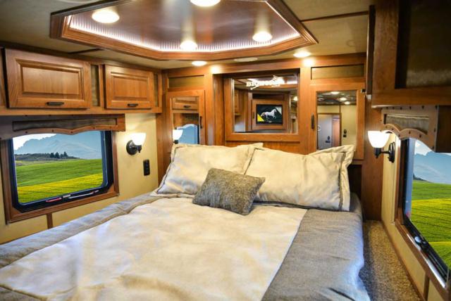 Bed in Gooseneck in BLE8X16SR Bighorn Edition Livestock Trailer | Lakota Trailers