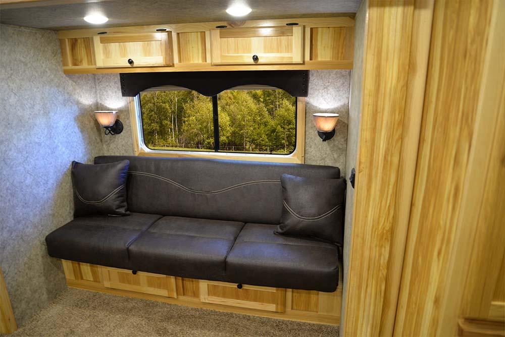Sofa in a Charger C8X11RK | Lakota Trailers