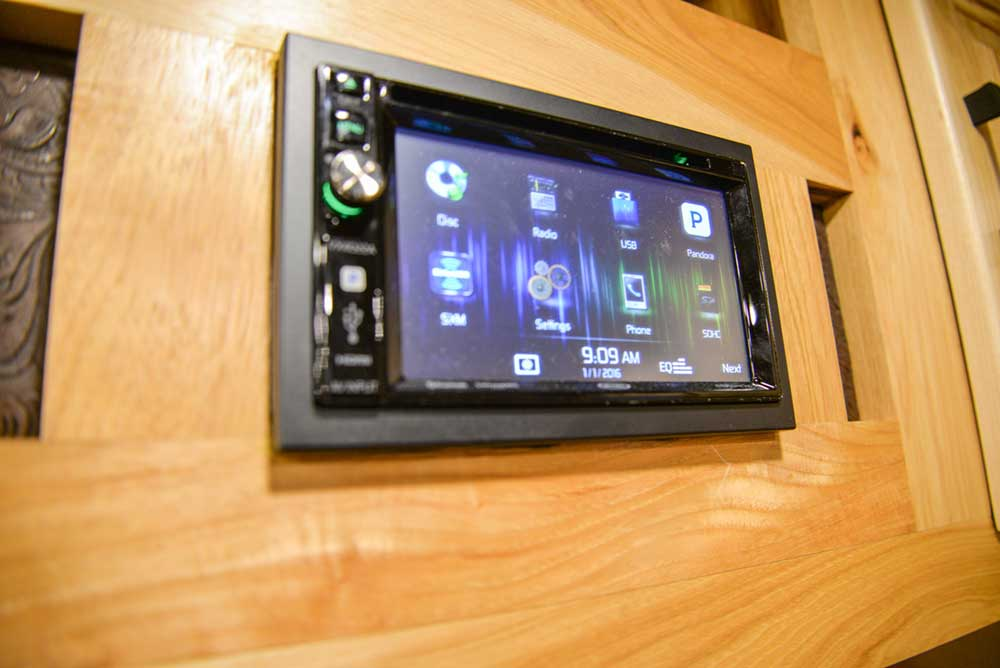 Touch Screen Stereo in BH8X17BSB Bighorn Horse Trailer | Lakota Trailers
