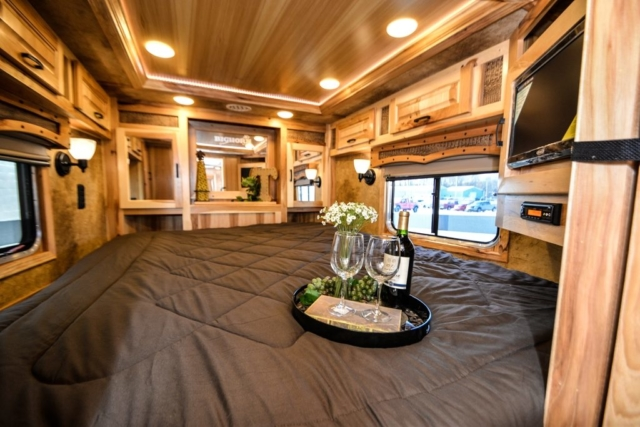 Bedroom in BH8X13CH Bighorn Horse Trailer | Lakota Horse Trailers