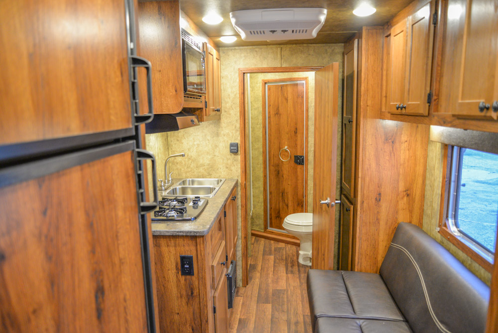 Living space in a AC311 Colt | Lakota Trailers