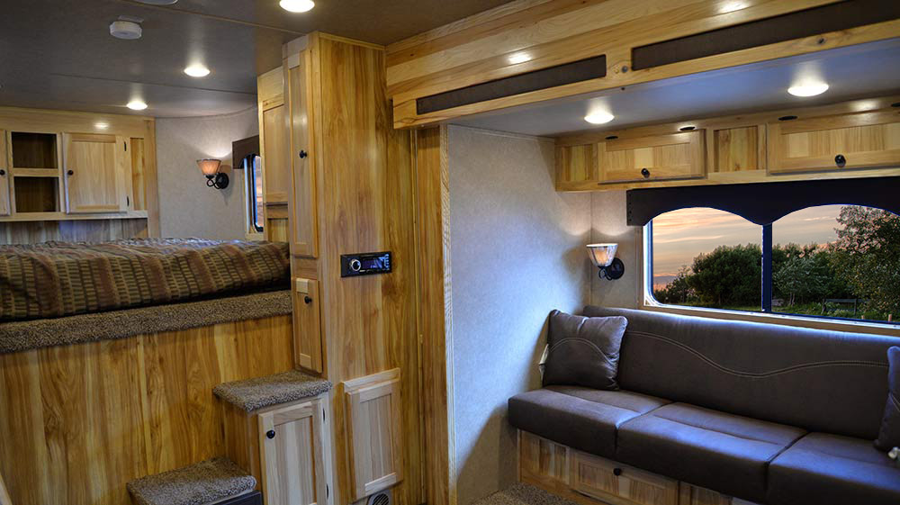 Living Quarters in C8X15BB Charger Edition Horse Trailer | Lakota Trailers