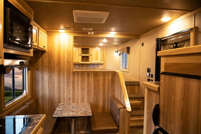 Living Quarters in LE8X11DR Charger Edition Livestock Trailer | Lakota Trailers