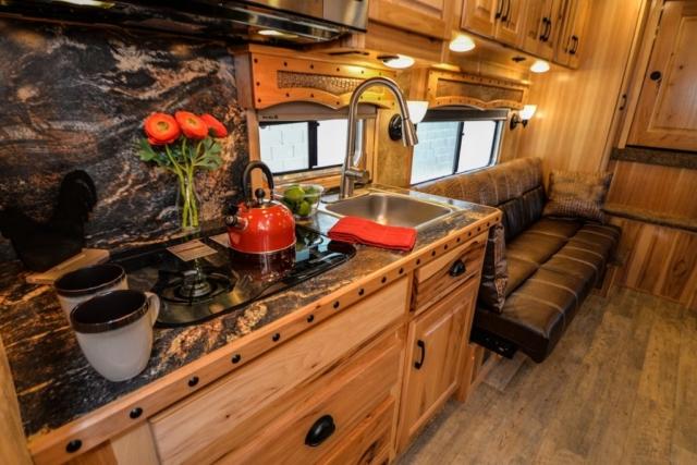 Kitchen in BH8X13CH Bighorn Horse Trailer | Lakota Horse Trailers