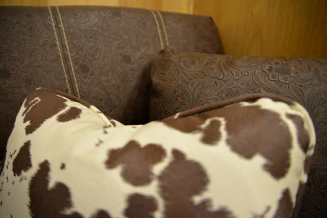Sofa in BH8X16SR Horse Trailer with Bar   Lakota Trailers
