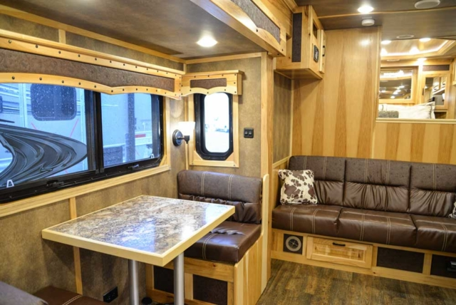 Dining Area in BH8X17BSB Bighorn Horse Trailer | Lakota Trailers
