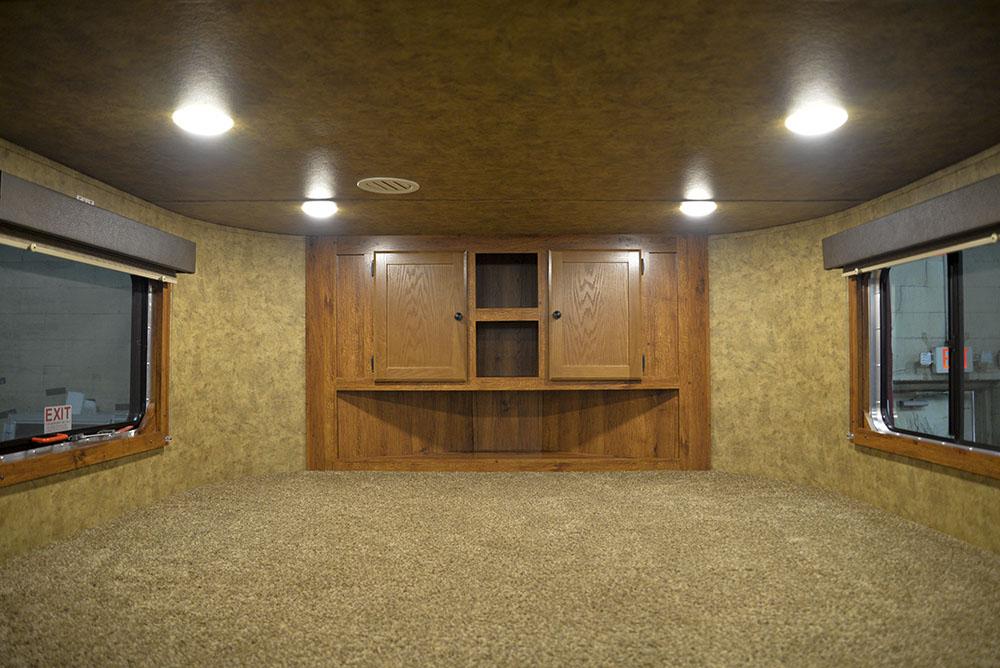 Bedroom in a Colt AC8415   Lakota Trailers