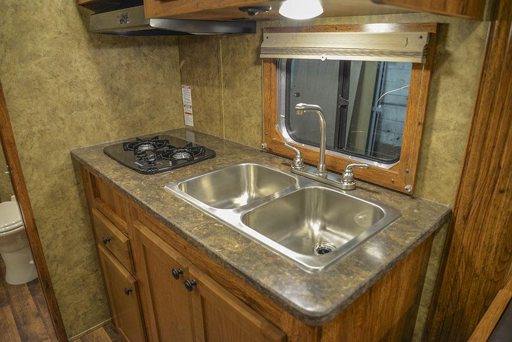 Kitchen in a Colt AC8415   Lakota Trailers