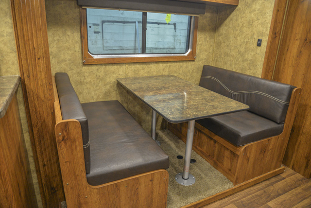 Dinette in a Colt AC8415 | Lakota Trailers