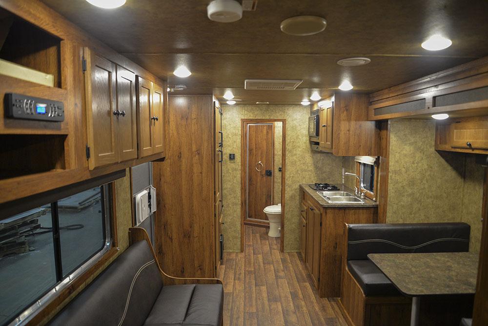 Living space in a Colt AC8415   Lakota Trailers