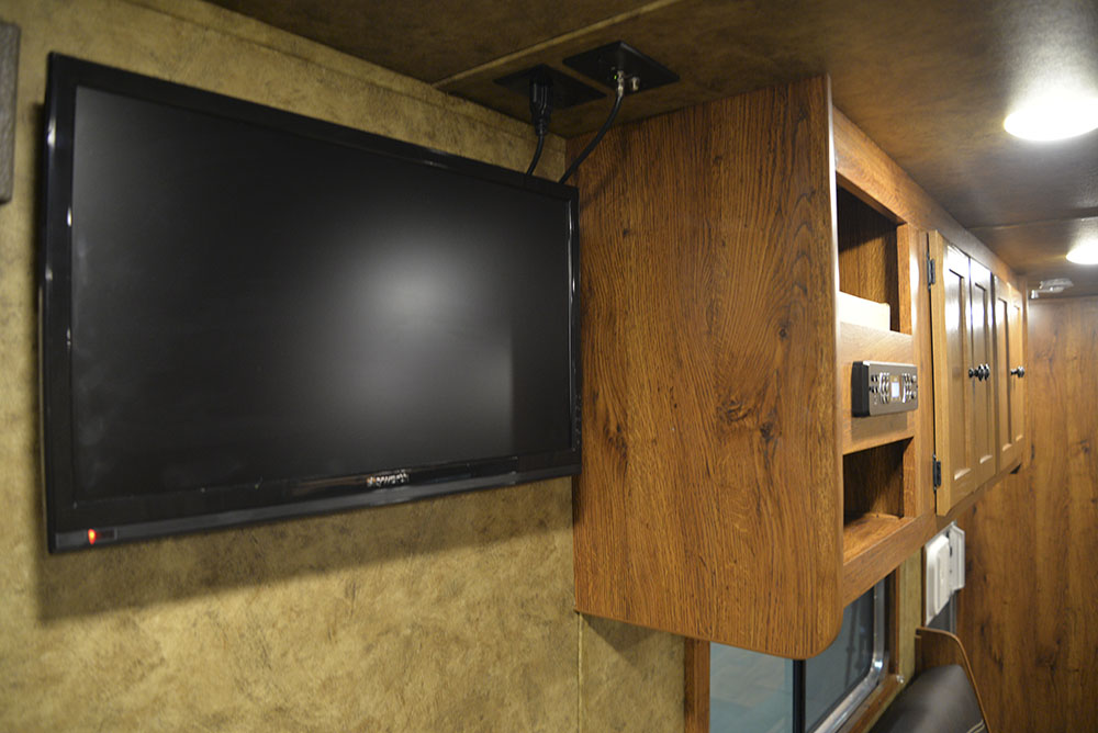 TV in a Colt AC8415 | Lakota Trailers