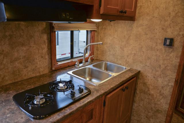 Kitchen in a Colt AC8311 | Lakota Trailers