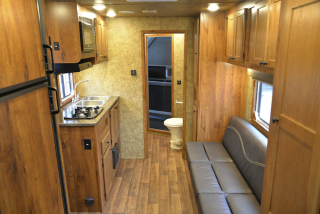 Living space in a Colt AC8311   Lakota Trailers