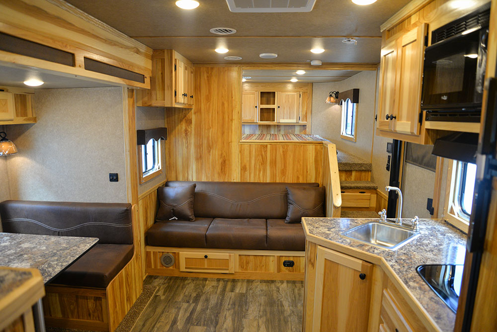 Living Quarters in a LE8X13SR Charger Edition Livestock Trailer | Lakota Trailers