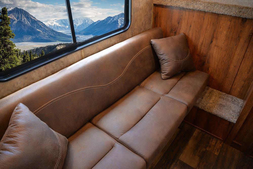 Sofa in ACX9 Colt Edition Horse Trailer   Lakota Trailers