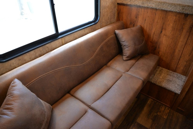 Sofa in ACX9 | Lakota Trailers