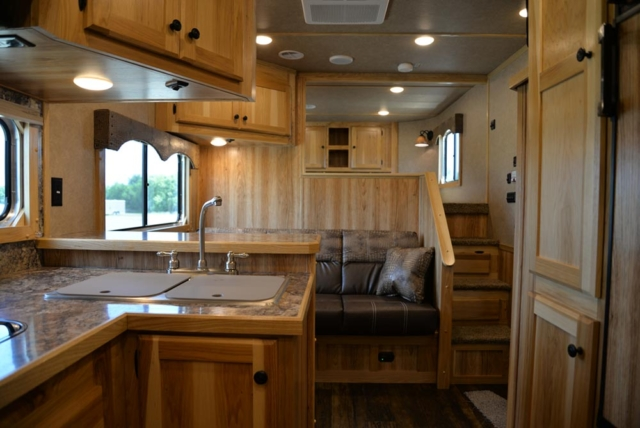 Living Quarters in a C8X13SRB Charger Edition Horse Trailer | Lakota Trailers