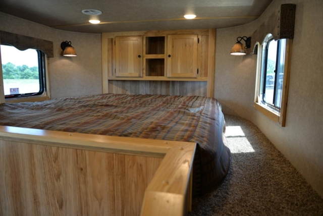Bed Area in a C8X13SRB Charger Edition Horse Trailer | Lakota Trailers