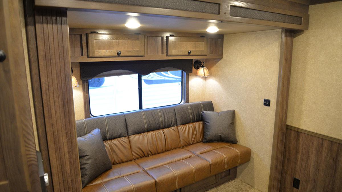 Sofa in Charger C8X15BB | Lakota Trailers
