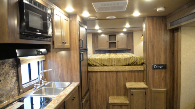 Living space in Charger C8X15BB | Lakota Trailers