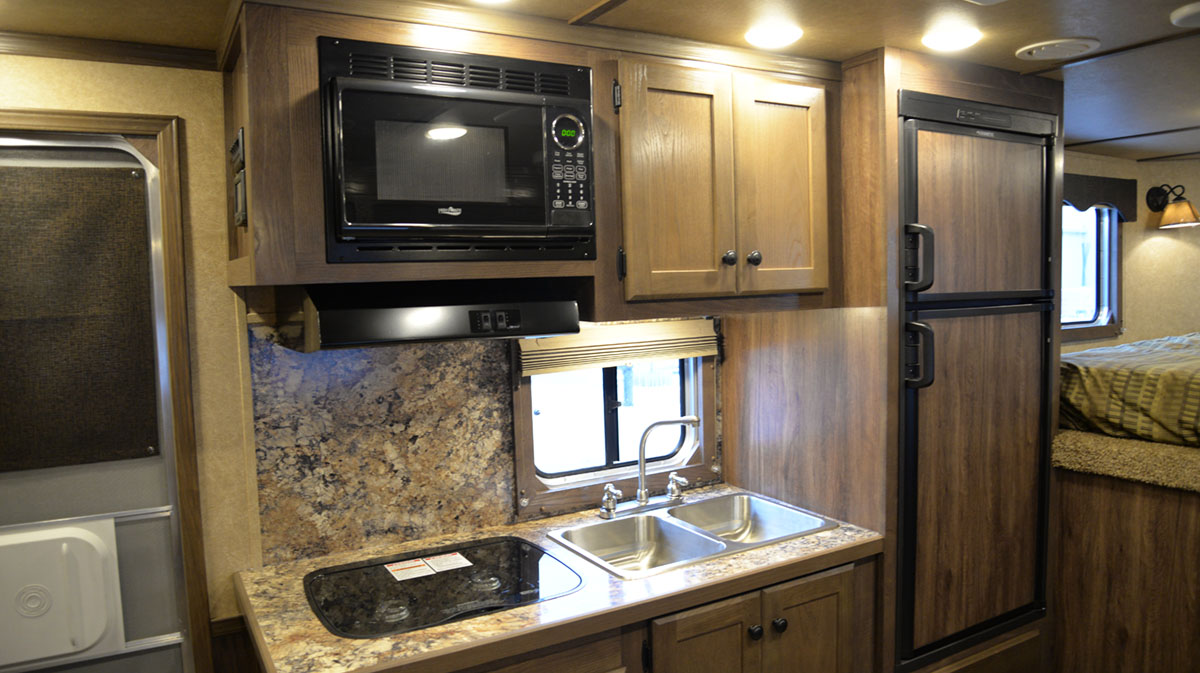 Kitchen in Charger C8X15BB | Lakota Trailers