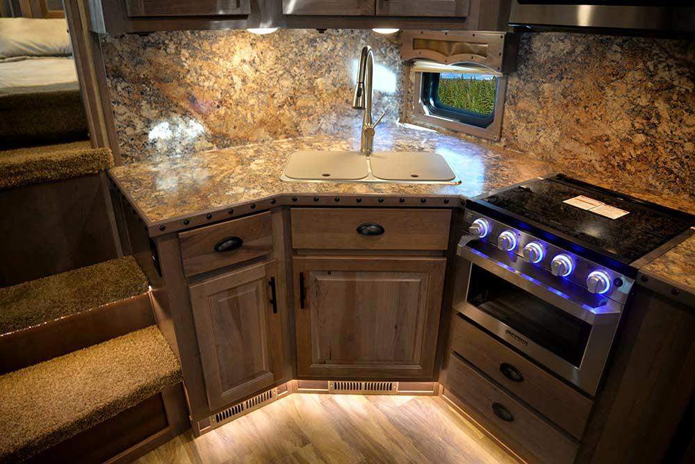 Kitchen in BH8X15KP Bighorn Edition Horse Trailer   Lakota Trailers