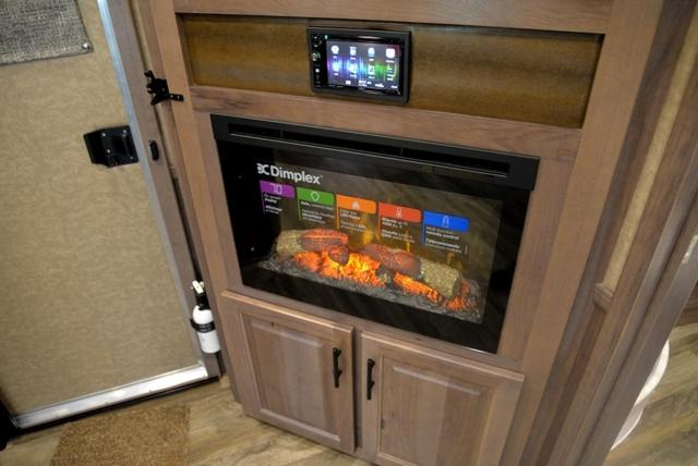 Fireplace in BH8X15KP | Lakota Trailers