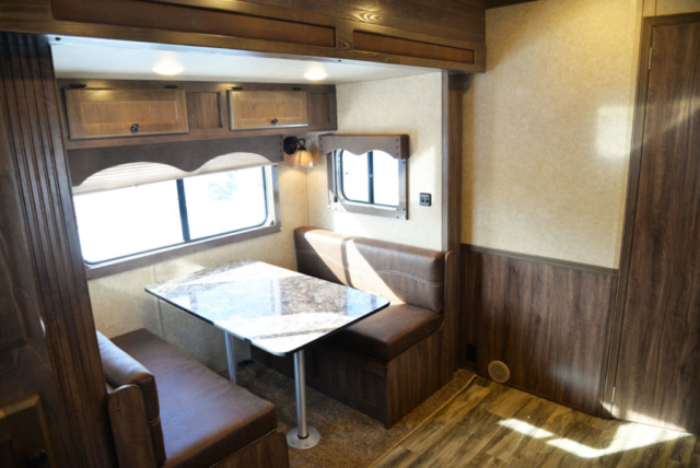 Dinette in Charger LE8X15BB | Lakota Trailers