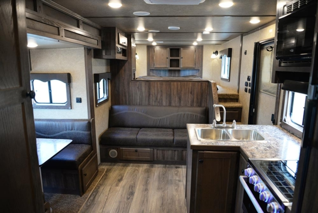Living Quarters in C8X14SR Charger Edition Horse Trailer | Lakota Trailers