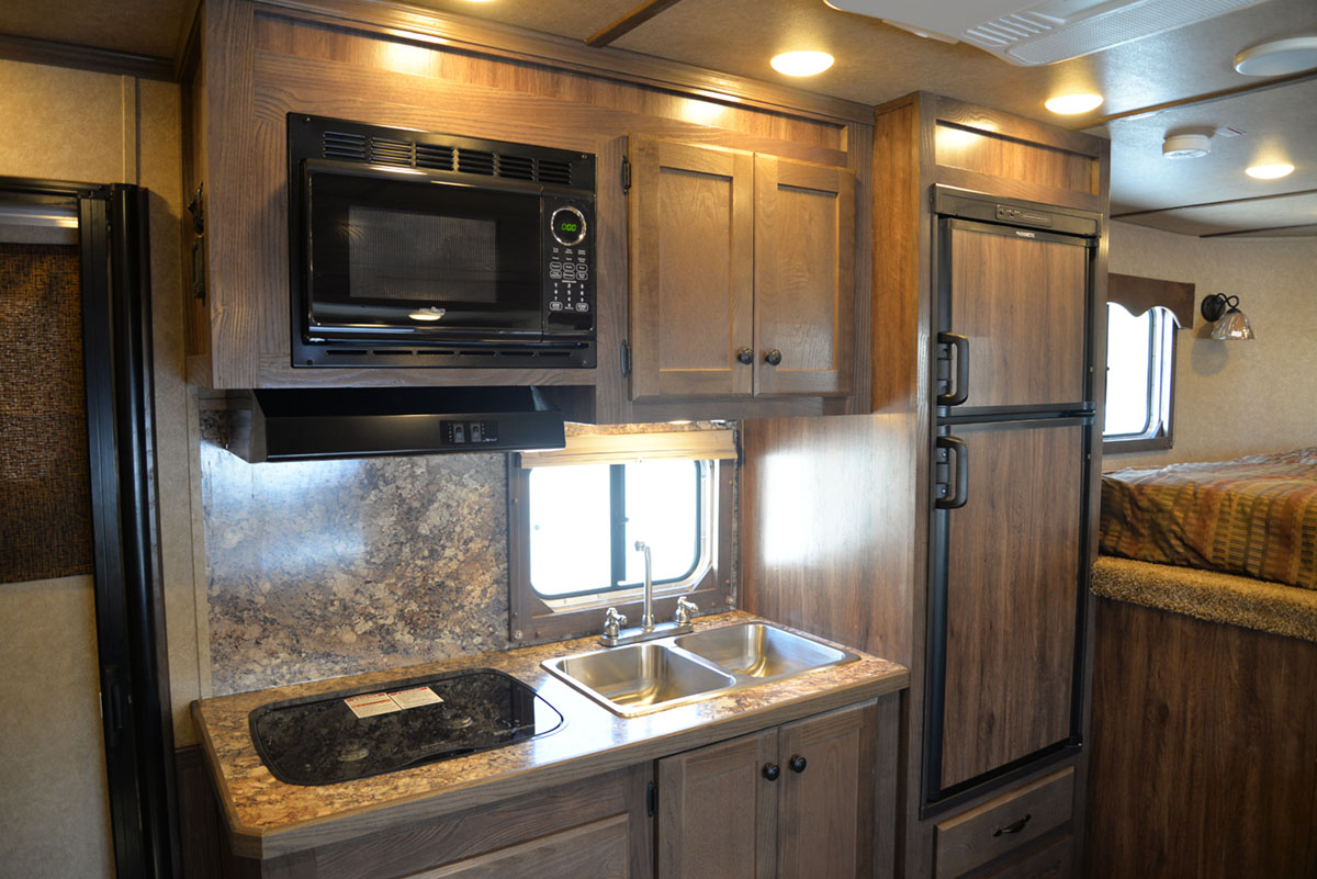 Kitchen in Charger LE8X15BB | Lakota Trailers
