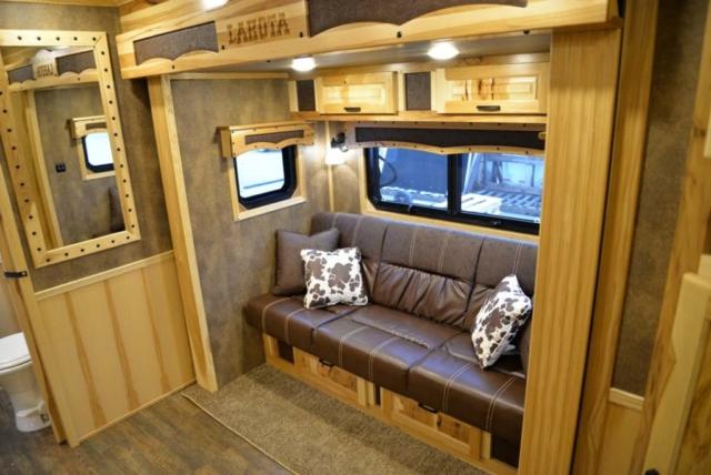Sofa in Custom BLE8X11RK Bighorn Livestock   Lakota Trailers