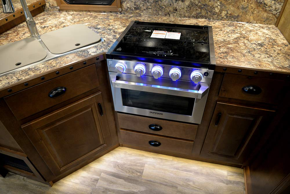 Kitchen in BH8X14CE | Lakota Trailers